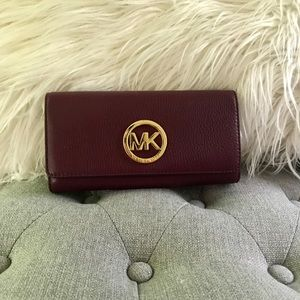 Burgundy Michael Kors wallet